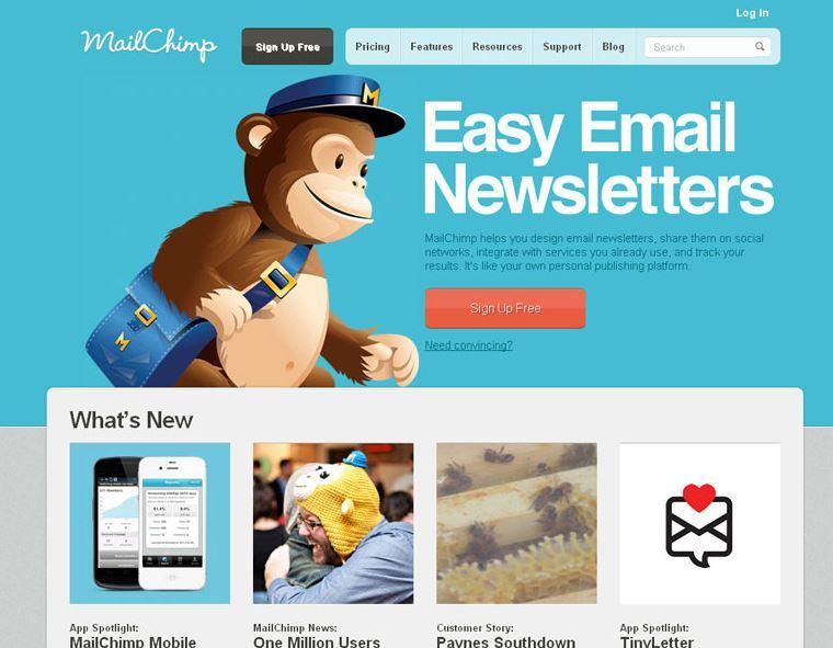 MailChimp.