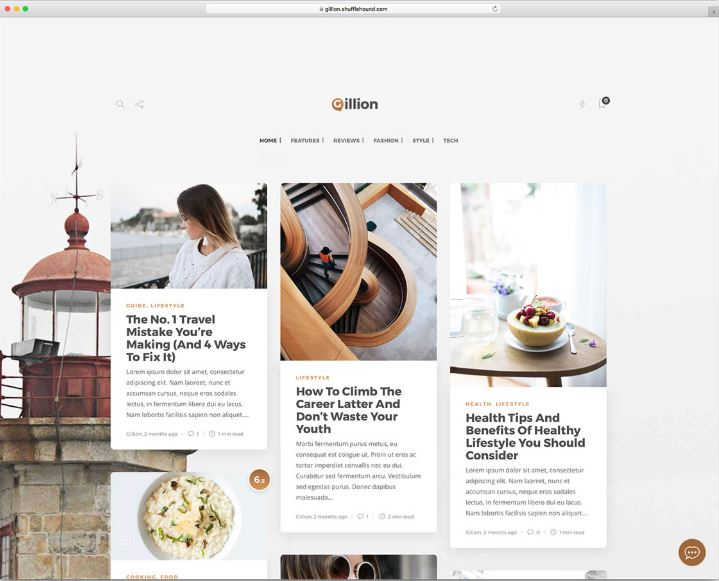 Theme WordPress chuẩn SEO Gillion.