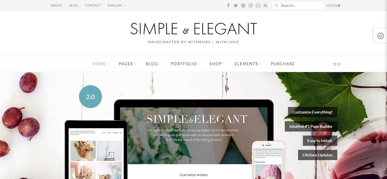 Mẫu Theme WordPress chuẩn SEO Simple&Elegant