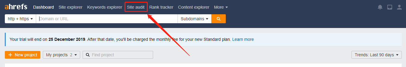 Sử dụng tính năng Audit website